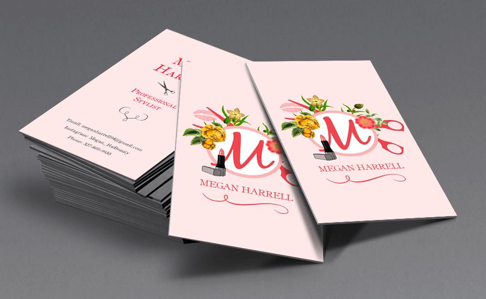 Business Card design for Megan Harrell Professional Stylist