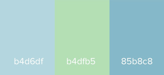 Muted Blue Green Color Theory