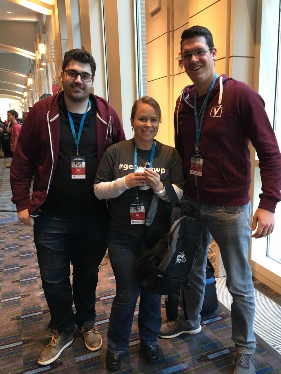 Meeting members of the Yoast Team at WordCamp US.