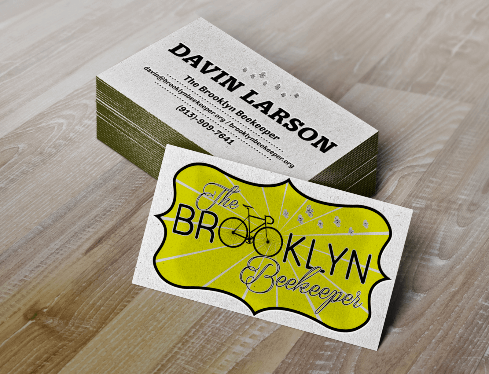 Business Card Design for Brooklyn Beekeeper