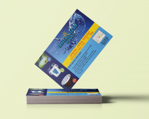 Postcard Design for Crystal Clear Pools