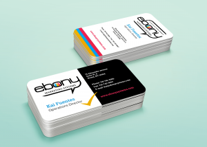 Business Card Design for Ebony Systems