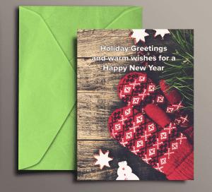 Waveform Printed Holiday Card Design