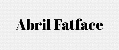 abril serif font