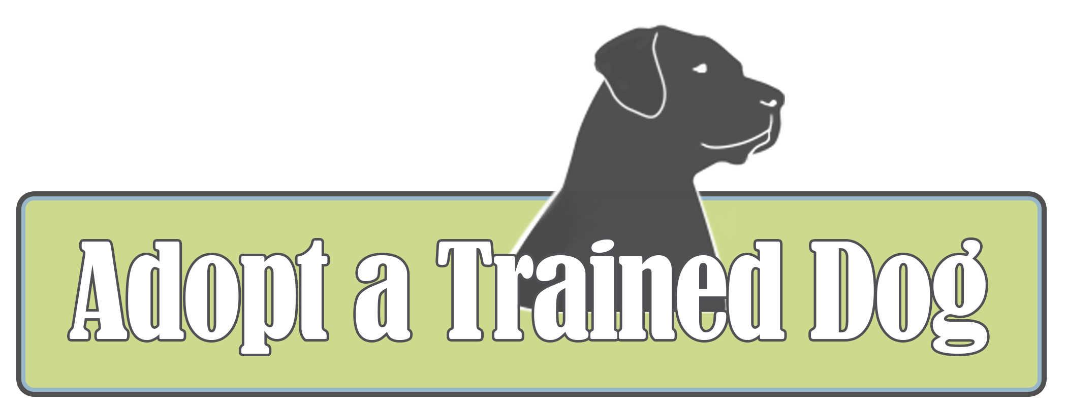 Adopt A Trained Dog Logo