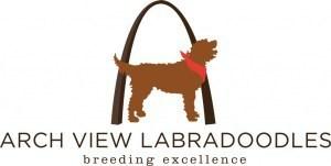 Arch view labradoodles logo