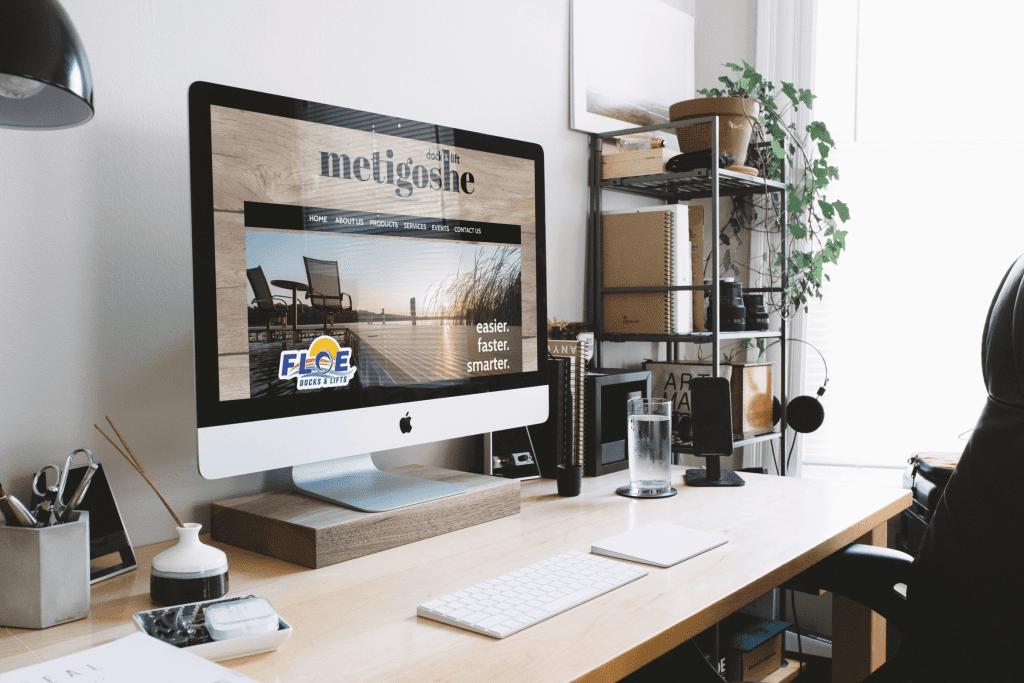 Metigoshe Dock and Lift website mock up