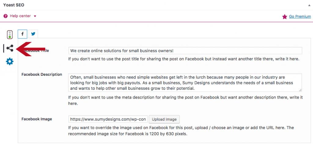 Optimize blog post for social media