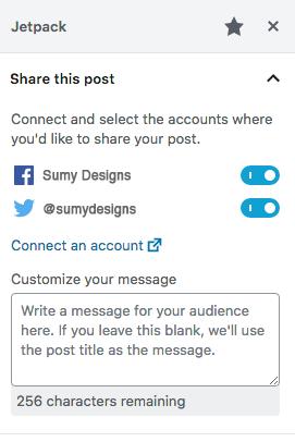 Auto-sharing blog post on social media