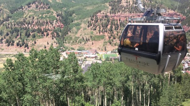 View from the gondola in Telluride, Colorado