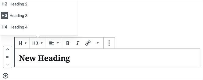 Gutenberg Headings