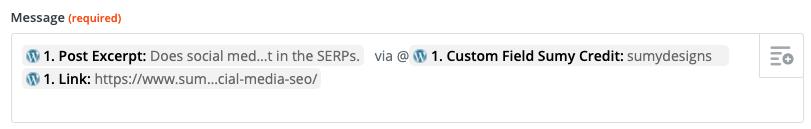 adding Twitter credit to status