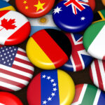 flag buttons to represent a bilingual website