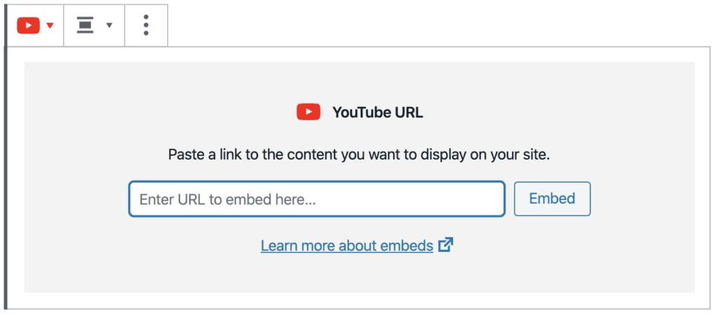 add youtube URL
