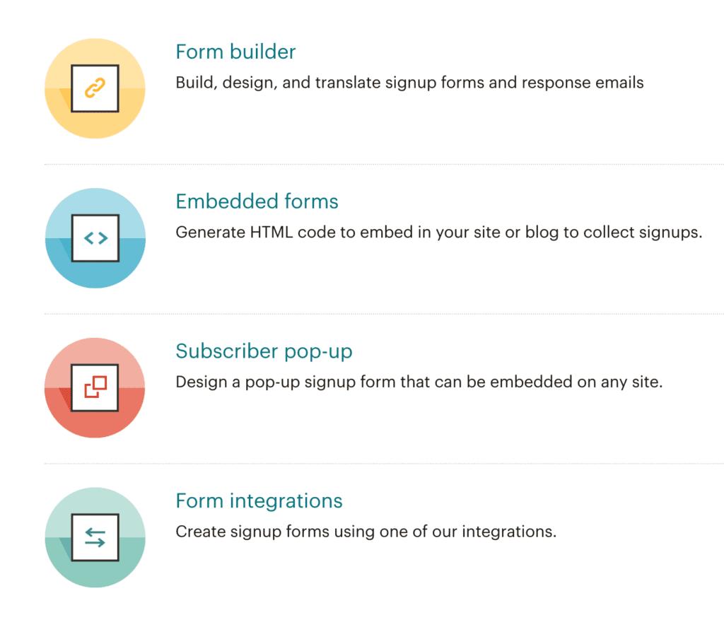 MailChimp Signup Forms