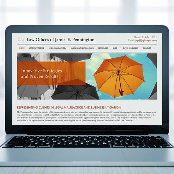 Example of one of the best law firm websites