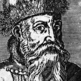 Drawing of Johannes Gutenberg