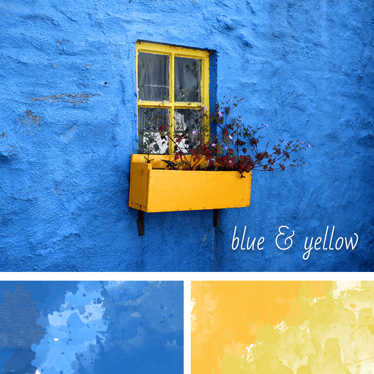 blue and yellow website inpiration