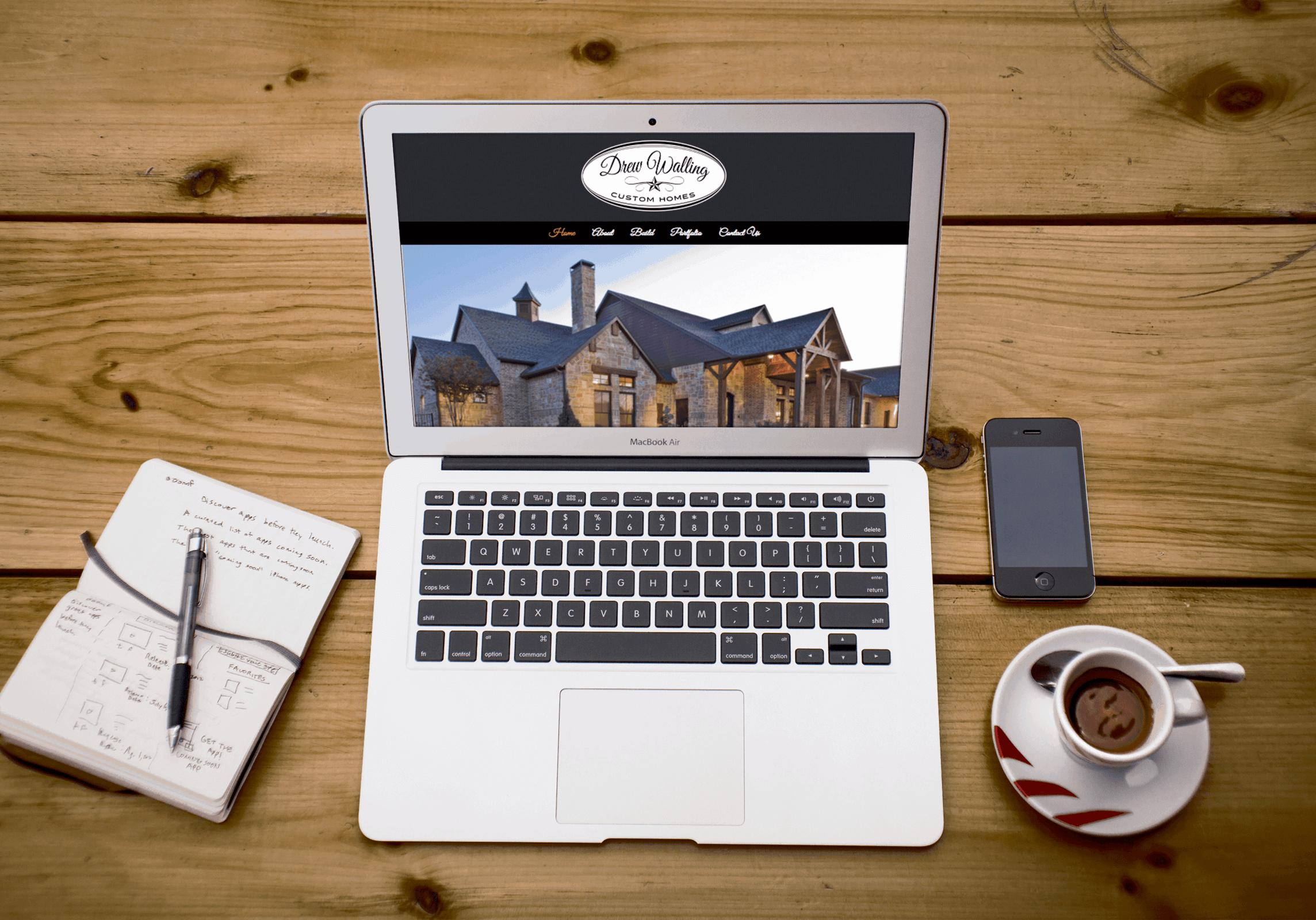 drew walling custom homes website