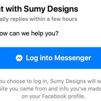 Example of what it looks like when you add facebook messenger on website