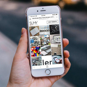 Instagram landing page example