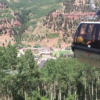 View from the gondola in Telluride, Colorado
