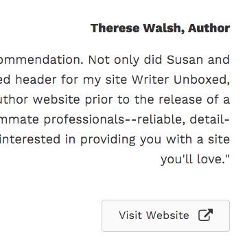 Therese Testimonial Screenshot
